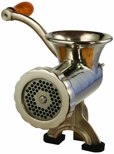 LEM Products #10 Stainless Steel Clamp-on Manual Hand Meat Grinder