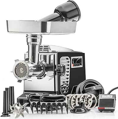 STX Turboforce II electric meat grinder for raw dog food
