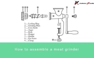 How to assemble a meat grinder